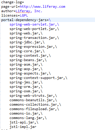 Spring MVC Portlet in Liferay - jar added in plugin package