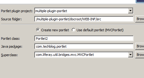How to create multiple portlets in single Liferay plugin project - adding-new-portlet