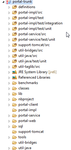 How to Import / Configure Liferay Source in Eclipse - liferay-src-imported