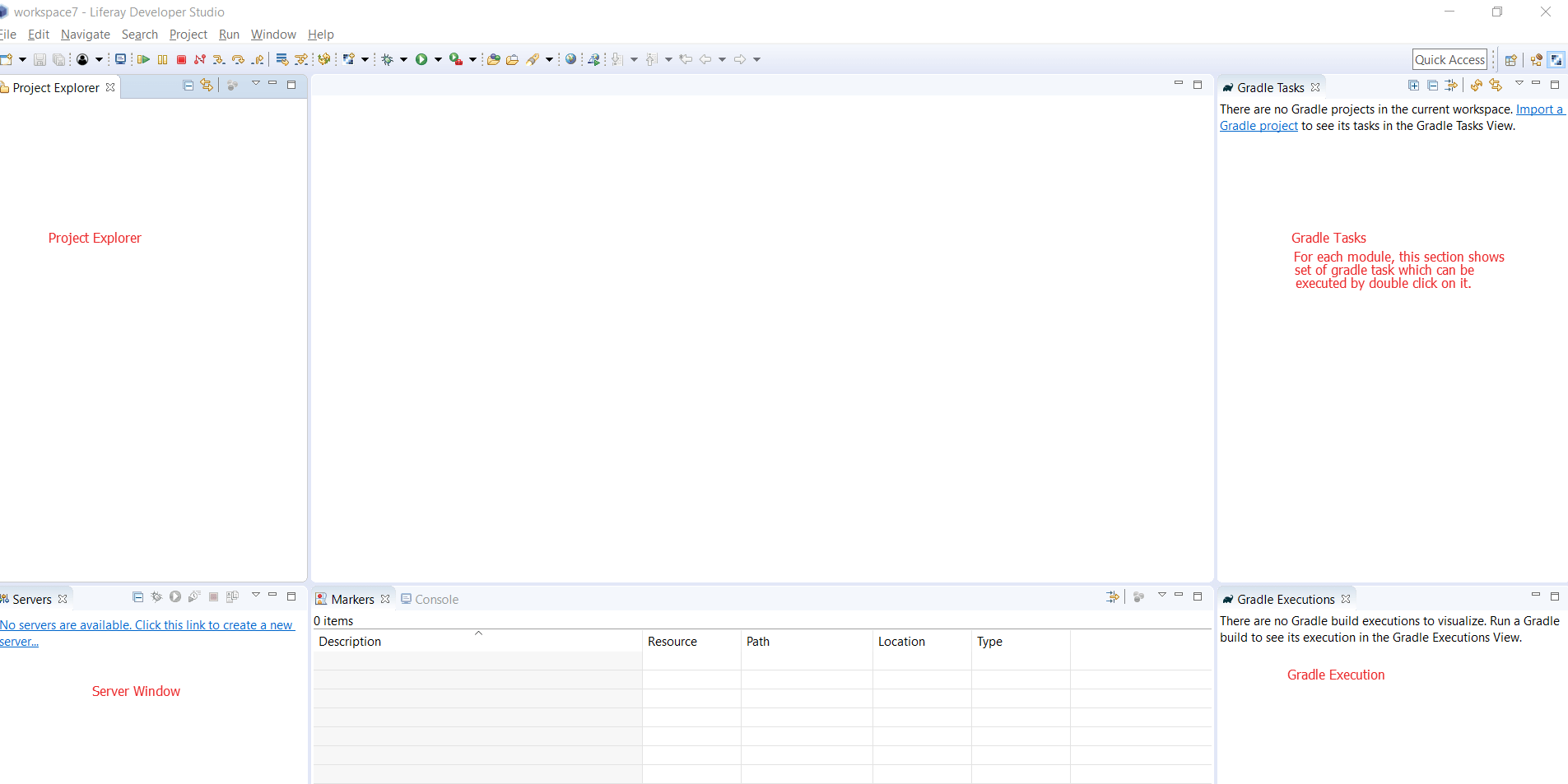 Liferay workspace perspective