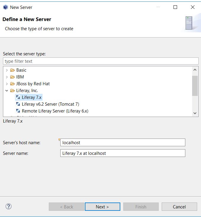 Add Liferay 7 server in Liferay IDE - Liferay workspace